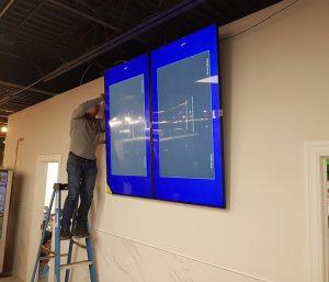 Installation for TV office